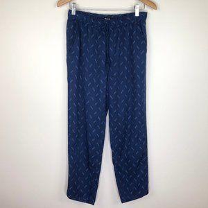 Madewell Blue Ikat Drawstring Track Trousers Pant